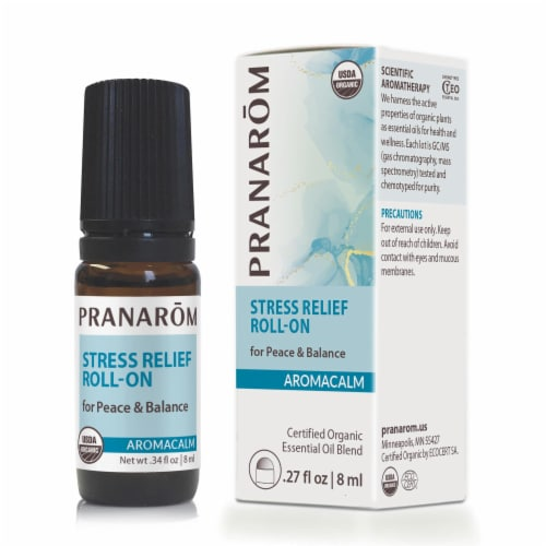 Pranarom Aromacalm Organic Stress Relief Roll-On Perspective: front