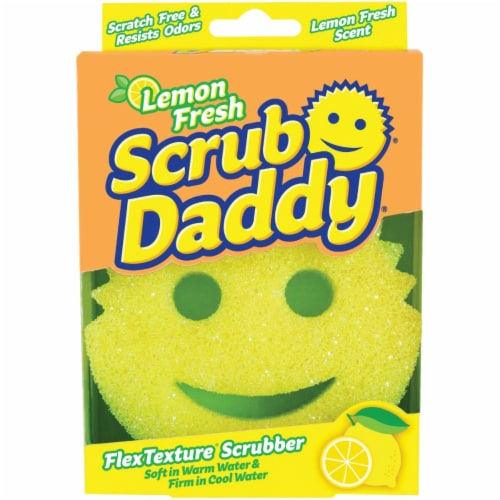 Scrub Daddy® Lemon Fresh Sponge Perspective: front