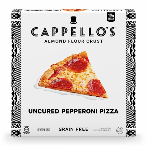 Cappello's Grain Free Uncured Pepperoni Pizza Perspective: front