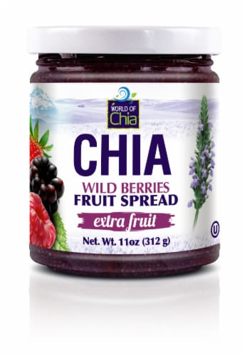 World of Chia Extra Fruit Wild Berries Fruit Spread Perspective: front