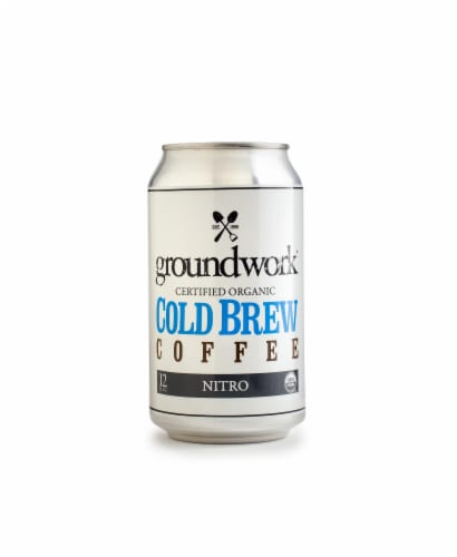 Groundwork Organic Nitro Cold Brew Coffee Perspective: front