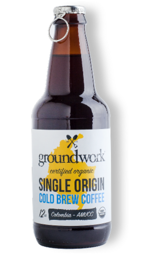 Groundwork Organic Single Origin Colombia Cold Brew Coffee Perspective: front