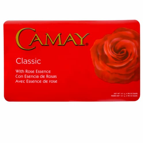 Camay Classic Rose Essence Scented Beauty Bar Soap Perspective: front