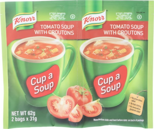 Knorr Tomato Soup Packets with Croutons Perspective: front
