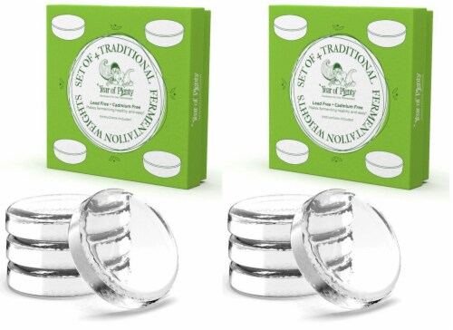 Year of Plenty Fermentation Weights | 8-Pack | for Wide Mouth Mason Jars Perspective: front