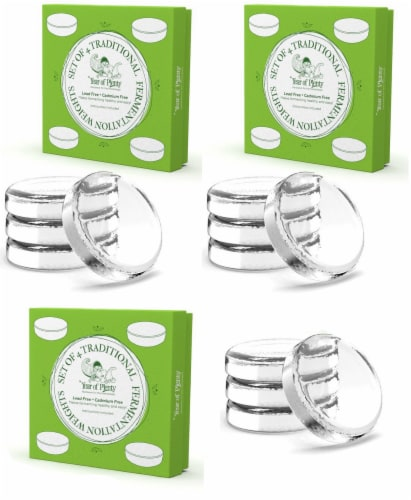 Year of Plenty Fermentation Weights | 12-Pack | for Wide Mouth Mason Jars Perspective: front