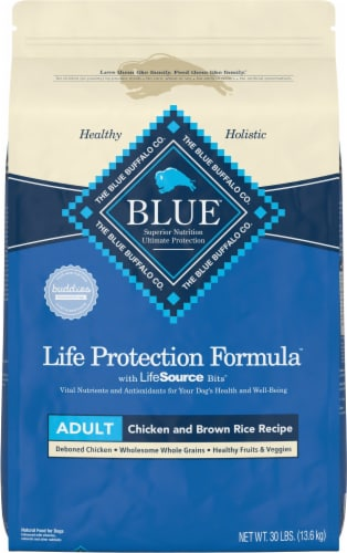 Blue Buffalo Life Protection Formula Chicken & Brown Rice Large Breed Adult Dry Dog Food Perspective: front