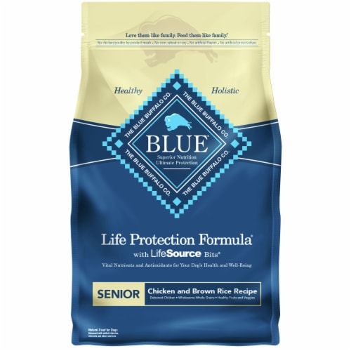 Blue Buffalo Life Protection Formula Chicken & Brown Rice Recipe Senior Dry Dog Food Perspective: front