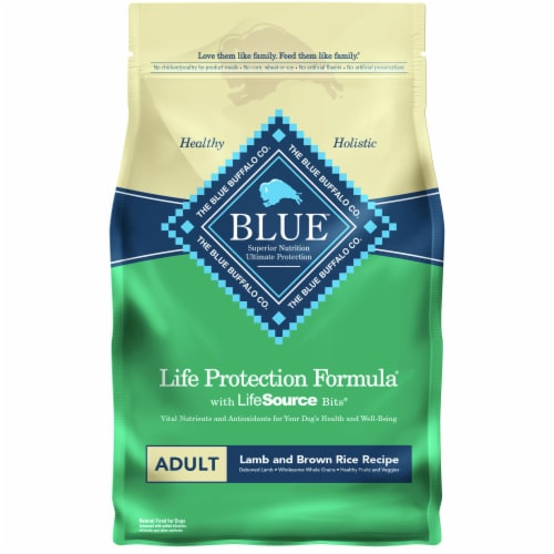 Blue Buffalo Life Protection Formula Lamb & Brown Rice Recipe Adult Dry Dog Food Perspective: front