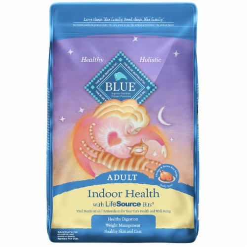Blue Buffalo Indoor Health Chicken & Brown Rice Adult Dry Cat Food Perspective: front
