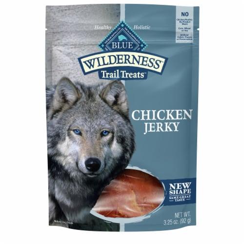 Blue Wilderness Trail Treats Chicken Jerky Dog Treats Perspective: front