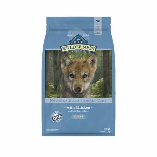 Blue Wilderness Grain Free Chicken Flavor Dry Puppy Food Perspective: front