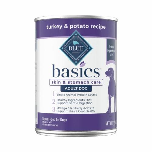 Blue Buffalo Basics Limited Ingredient Diet Turkey & Potato Recipe Adult Wet Dog Food Perspective: front