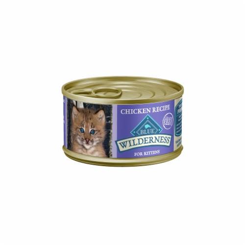 Blue Wilderness Chicken Recipe Wet Kitten Food Perspective: front