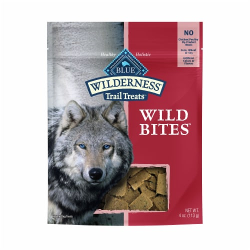 Blue Wilderness Trail Treats Wild Bites Salmon Recipe Dog Treats Perspective: front