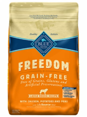 Blue Buffalo Freedom Grain-Free Chicken Potatoes and Peas Large Breed Dry Dog Food Perspective: front
