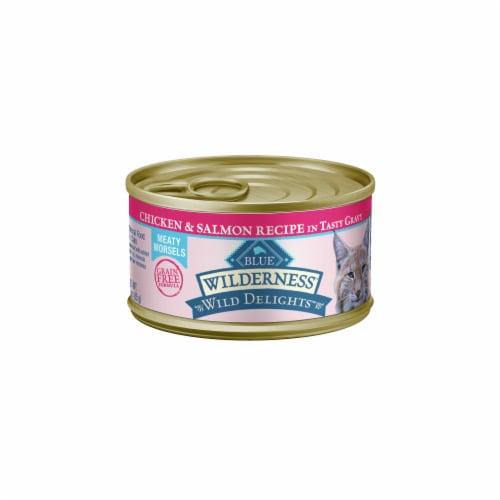 Blue Wilderness® Wild Delights™ Chicken & Salmon in Gravy Wet Cat Food Perspective: front