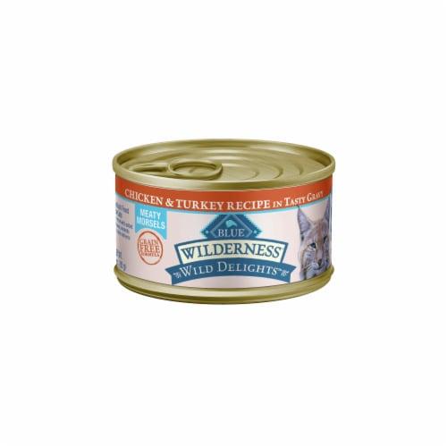 Blue® Wilderness™ Wild Delights Chicken & Turkey in Gravy Wet Cat Food Perspective: front