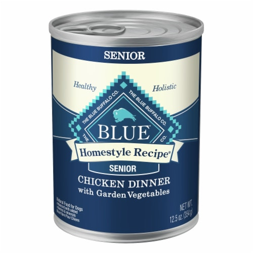 Blue Buffalo Homestyle Recipe Chicken Dinner Flavor Senior Wet Dog Food Perspective: front