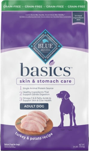 Blue Buffalo Basics Limited Ingredient Diet Grain-Free Turkey & Potato Adult Dry Dog Food Perspective: front