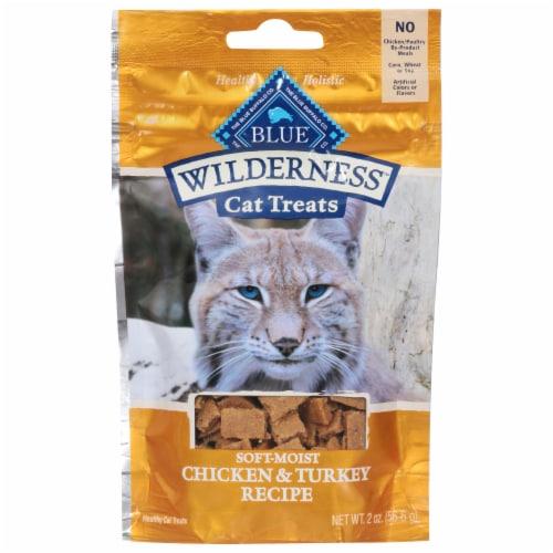 Blue Buffalo Wilderness Chicken & Turkey Recipe Soft-Moist Cat Treats Perspective: front