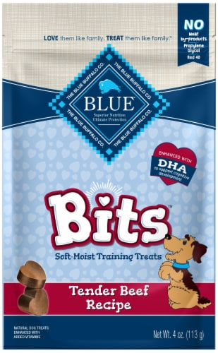 Blue Bits Tender Beef Recipe Soft-Moist Natural Training Dog Treats Perspective: front