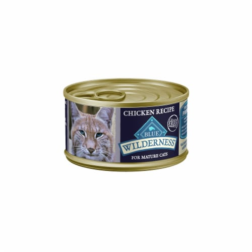 Blue Wilderness Chicken Recipe for Mature Cats Wet Cat Food Perspective: front