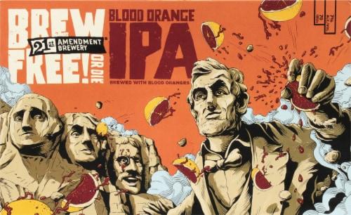 21st Amendment Brew Free or Die Blood Orange IPA Perspective: front