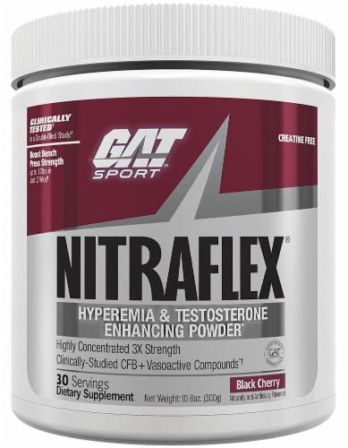 GAT  Sport NITRAFLEX Black Cherry Protein Powder Perspective: front