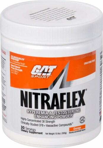 GAT NITRAFLEX™ Orange Flavored Protein Powder Perspective: front