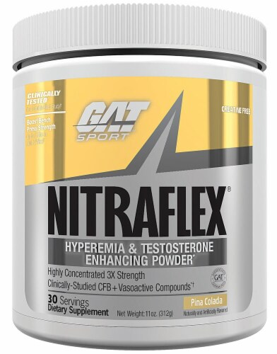 GAT  NITRAFLEX™   Pina Colada Flavored Protein Powder Perspective: front