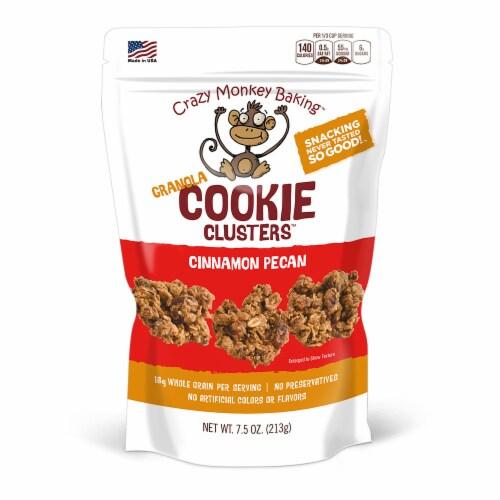 Crazy Monkey Baking Cinnamon Pecan Granola Cookie Clusters Perspective: front