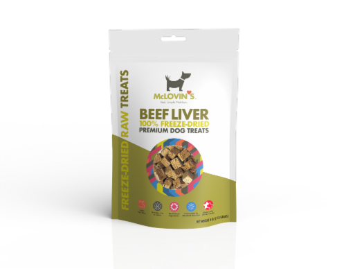 Beef Liver 100% Freeze-dried Premium Dog Treats Perspective: front