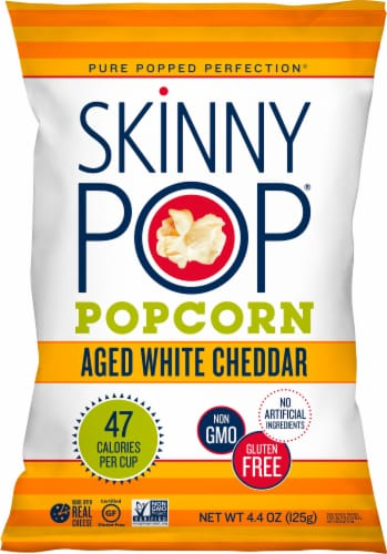 SkinnyPop Aged White Cheddar Popcorn Perspective: front