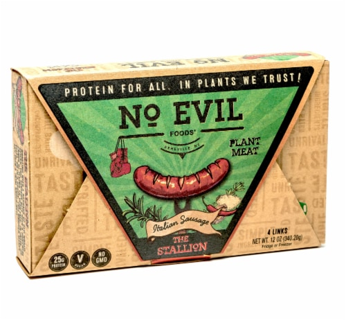 No Evil Foods The Stallion Plant Based Italian Sausage Perspective: front