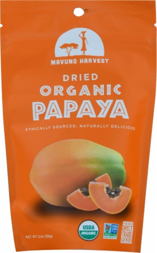 Mavuno Harvest Dried Papaya Perspective: front
