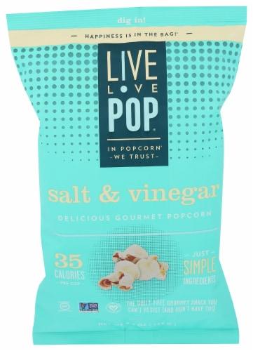 Live Love Pop Salt And Vinegar Popcorn Perspective: front