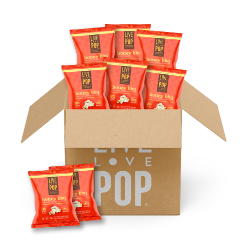 Live Love Pop Honey BBQ Gourmet Popcorn Perspective: front