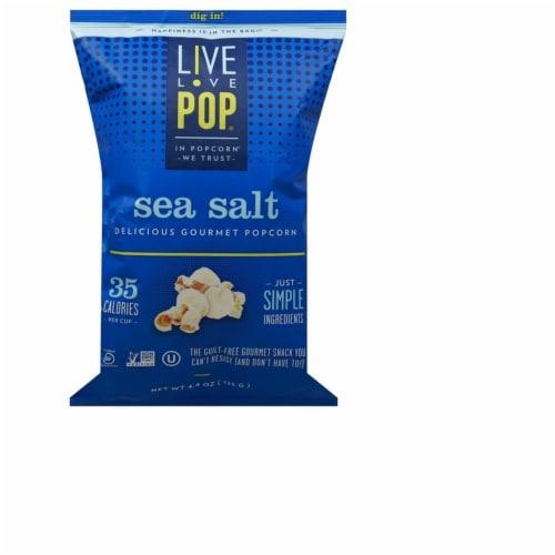 Live Love Pop Sea Salt Gourmet Popcorn (6 Pack) Perspective: front