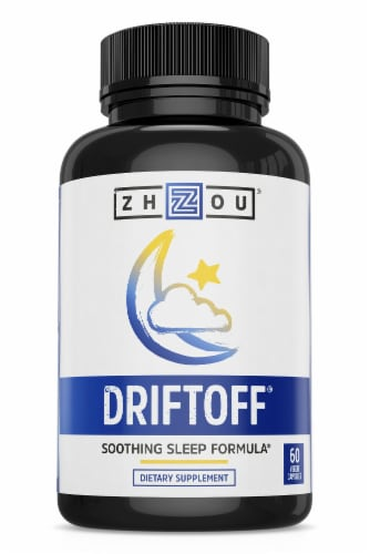 Zhou DriftOff Soothing Sleep Formula Dietary Supplement Capsules Perspective: front
