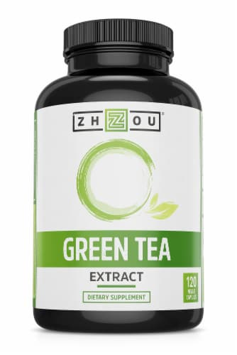 Zhou Green Tea Dietary Supplement Capsules Perspective: front
