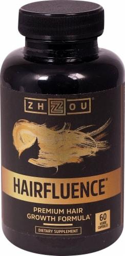 Zhou Hairfluence Premium Hair Growth Formula Veggie Capsules Perspective: front