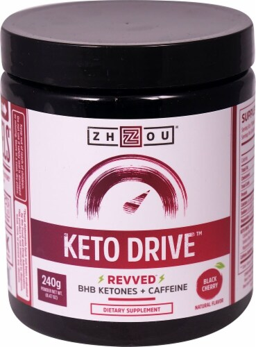 Zhou  Keto Drive™ Revved™ Ketones   Black Cherry Perspective: front