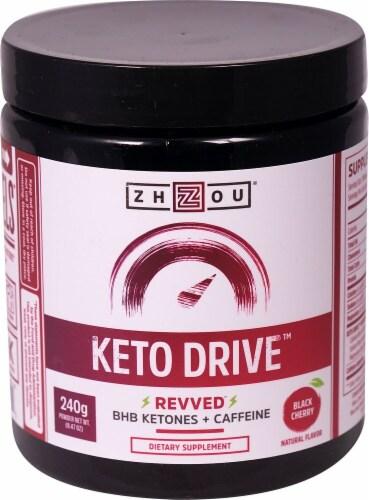 Zhou  Keto Drive™ Revved™ Ketones   Black Cherry Perspective: front