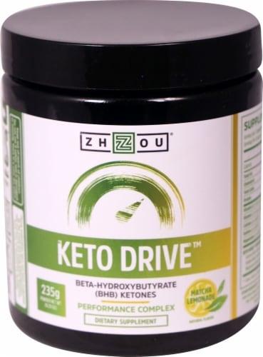 Zhou  Keto Drive™ BHB Ketones   Matcha Lemonade Perspective: front