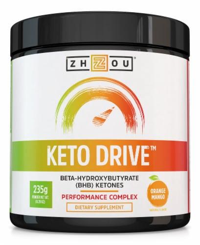 Zhou Keto Drive™ BHB Ketones Preformance Complex Orange Mango Powder Perspective: front