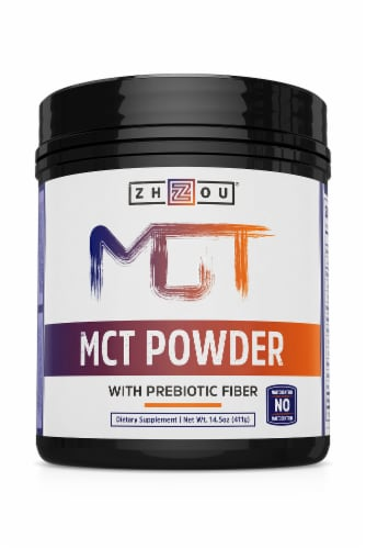 Zhou MCT Powder with Prebiotic Fiber Dietary Supplement Perspective: front