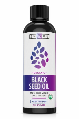Zhou Organic Black Seed Oil Perspective: front