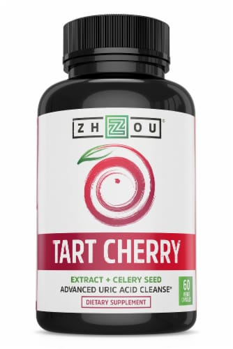 Zhou® Tart Cherry Extract + Celery Seed Perspective: front