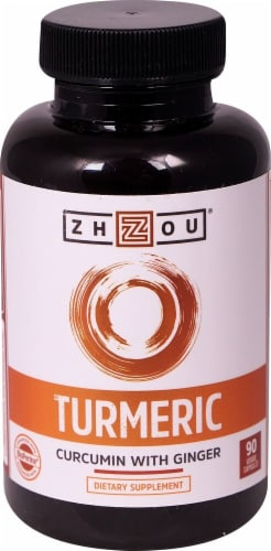 Zhou  Turmeric Curcumin with Ginger Perspective: front
